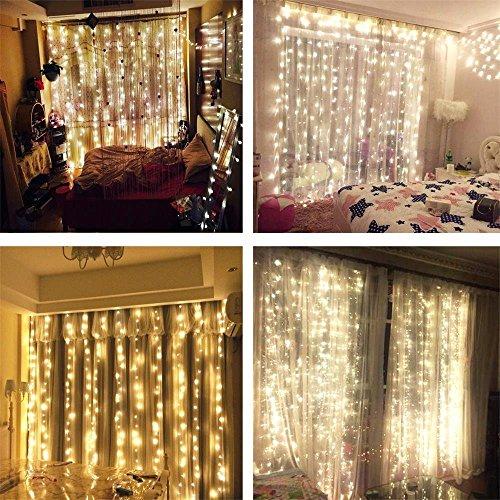 AMARS Linkable Safe 30V Bedroom String LED Curtain Lights Waterfall ...