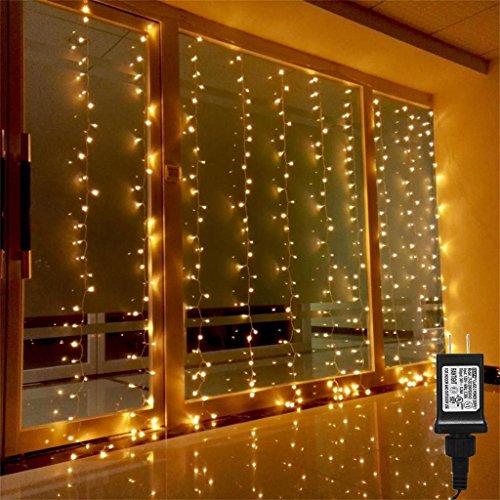 AMARS Linkable Safe 30V Bedroom String LED Curtain Lights