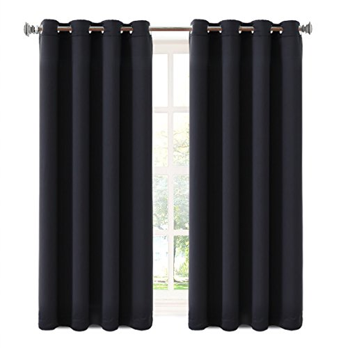 Blackout Curtains 2 Panels 63 Inch Luxury Thermal