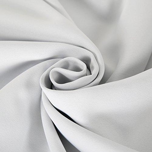Deconovo Curtains Thermal Insulated Blackout Curtains for Bedroom Sets of 2 Grommet Top Curtains in Greyish White 42X63 Inch