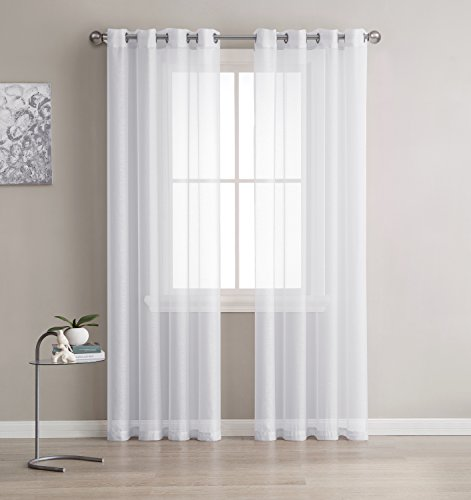 Grommet Sheer Curtains 2 Pieces Beautiful Elegant