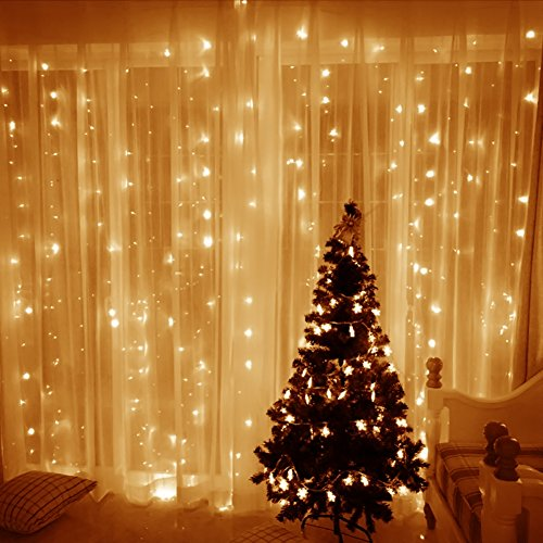 Leaf LED String Curtain Lights – 9.8 Feet – Warm White