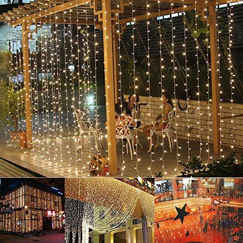 Leaf LED String Curtain Lights – 9.8 Feet – Warm White