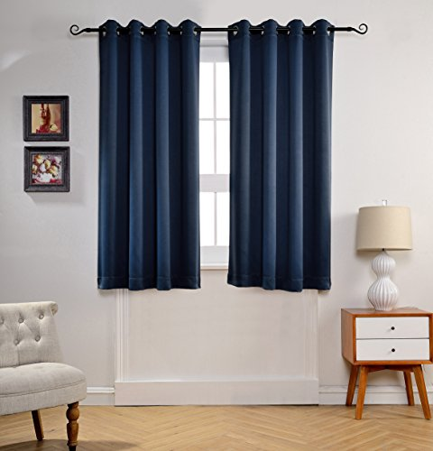 Mysky Home Solid Grommet Top Thermal Insulated Window