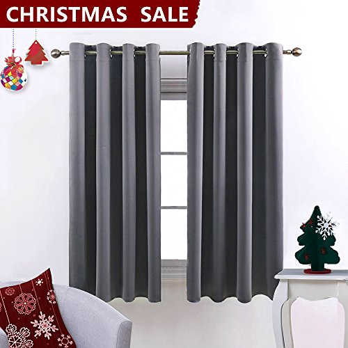 Nicetown Blackout Curtains for Bedroom /Living Room (2 Panels, W52 ...