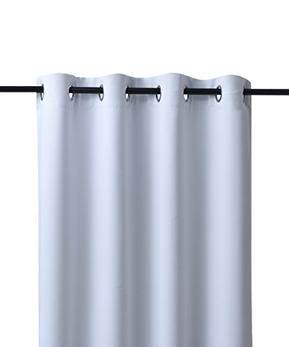 Nicetown Room Darkening Blackout Curtains Window Panel Drapes U2013 (Greyish  White Color) 1 Panel, 52×63 Inch Each Panel, 8 Grommets / Rings Per Panel