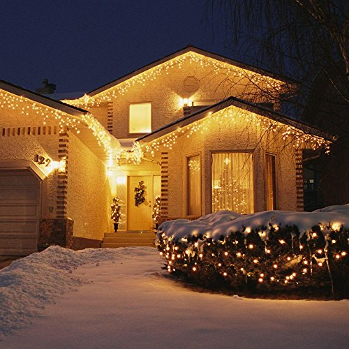 TaoTronics Outdoor String Lights, 100 Leds String Lights 33ft Christmas Waterproof Decorative Lights for Bedroom, Patio, Parties( Copper Wire Lights, Warm White )