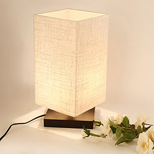 Bedside Desk zeefo simple table lamp bedside desk lamp with fabric shade and