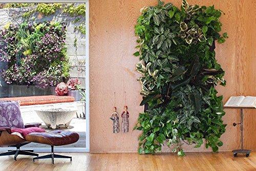 Koram 7 Pockets Vertical Garden Living Wall Hanging Planter Flower Pouch Green Field Pot Felt Indoor/Outdoor Wall Mount Balcony Plant Grow Bag for Herbs Vegetables and Flowers