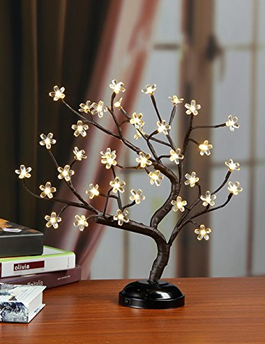 Lightshare16Inch 36LED Cherry Blossom Bonsai Light for Home Decor