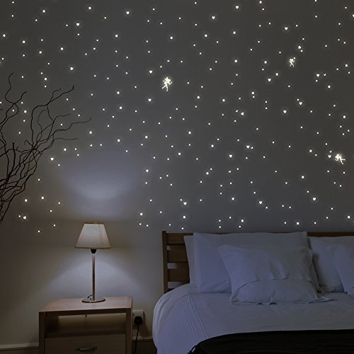 Wandkings U201cFairies With Hearts, Stars, Butterfliesu201d Wall Stickers / 341  Stickers / Fluorescent And Glow In The Dark Part 85