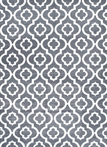 Gray Moroccan Trellis 2'0x3'4 Area Rug Carpet Large New