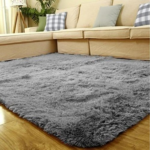 Perfect ACTCUT Super Soft Indoor Modern Shag Area Silky Smooth Rugs Fluffy Rugs  Anti Skid Shaggy Area Rug Dining Room Home Bedroom Carpet Floor Mat 4  Feet  By 5  ...