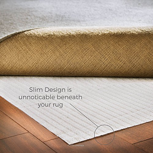 LINENSPA Non-Slip Area Rug Pad – 2 ft x 4ft Size Rubberized Indoor Rug Gripper