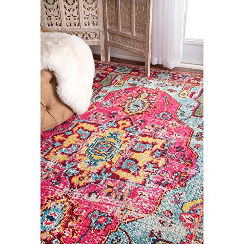 Oriental Vintage Distressed Abstract Multi Runner Area Rugs, 2 Feet 6 Inches By 8 Feet (2′ 6″ x 8′)