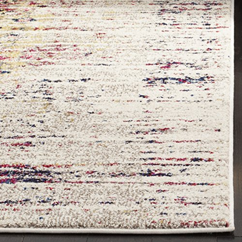 Safavieh Monaco Collection MNC209R Modern Abstract Vintage Ivory and Pink Area Rug (5'1″ x 7'7″)