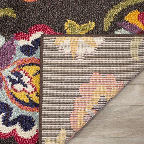 Safavieh Monaco Collection MNC229B Modern Colorful Floral Brown and Multi Area Rug (5'1″ x 7'7″)