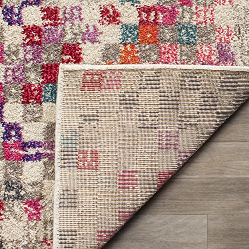 Safavieh Monaco Collection MNC241G Modern Abstract Pixel Grey and Multi Area Rug (5'1″ x 7'7″)