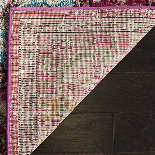 Safavieh Monaco Collection MNC243D Pink and Multi Area Rug, 8′ x 10′