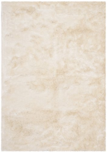 Safavieh Paris Shag Collection SG511-1212 Ivory Polyester Area Rug (3′ x 5′)