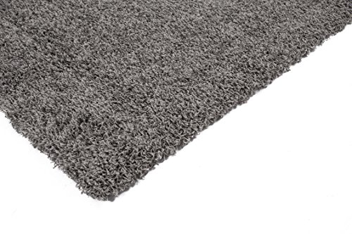 Sweet Home Stores Cozy Shag Collection Solid Shag Rug Contemporary Living & Bedroom Soft Shaggy Area Rug,  3'3″ L x 4'7″ W,  Grey