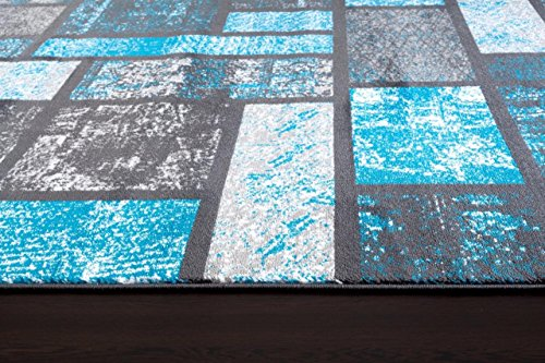 Turquoise 5'2×7'2 Area Rug Modern Carpet Large New