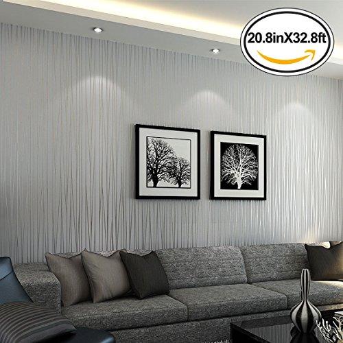 Mavee Non Woven 3d Wallpaper Print Embossed Modern Stripe
