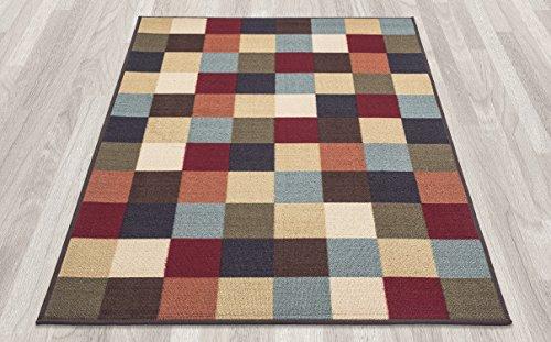 Ottomanson Ottohome Multi Color Contemporary Checkered